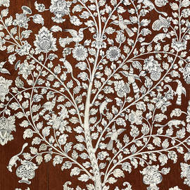Detail of a vintage botanical pattern - Anglo Indian School