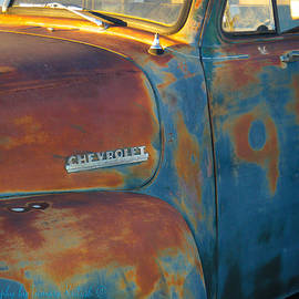 Tamara Kulish - Detail of Old Rusted Chevrolet Blasted By Time 6