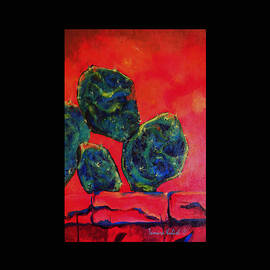 Tamara Kulish - Detail of Tree Dawn painting in Acrylic 1