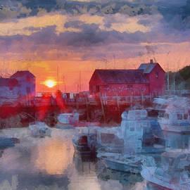 Jeff Folger - Digital art of dawn over Rockport