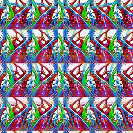 Navin Joshi - Digital experiments April 2015 Abstract dance flow pattern modern signature art graphic using multip