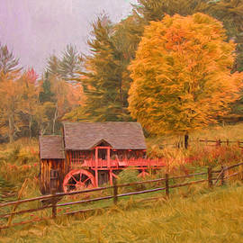 Jeff Folger - Digital painting of Old Crawford farm grist mill