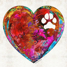 Dog Art - Puppy Love 2 - Sharon Cummings - Sharon Cummings