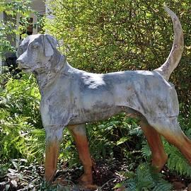 Dog On Alert Statue