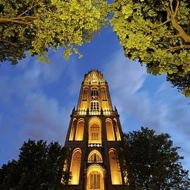 Merijn Van der Vliet - Dom Tower seen from Dom Square in Utrecht at dusk 222