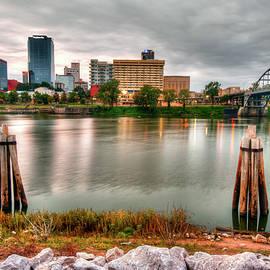 Gregory Ballos - Downtown Little Rock Arkansas Skyline on the Water