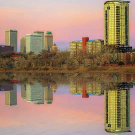 Gregory Ballos - Downtown Tulsa Skyline Reflections - Oklahoma Art