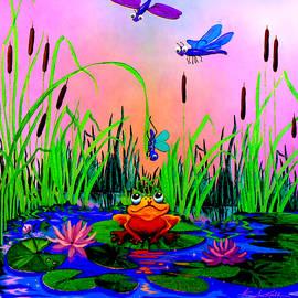 Hanne Lore Koehler - Dragonfly Pond Sunset