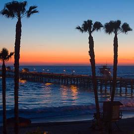 Ken Wolter - Dramatic Ocean Sunset at San Clemente Pier