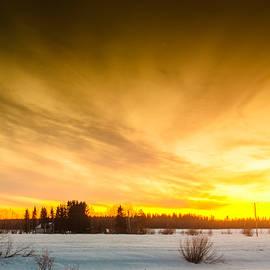 Jukka Heinovirta - Dramatic Sunset On The River