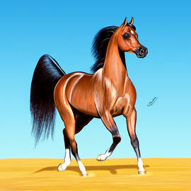 Khudair Alshehi - drawing horse Artrage