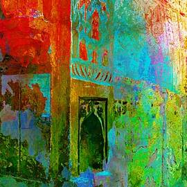 Sue Jacobi - Dreamy Arches Turquoise Abstract Sun Fort Rajasthan India 2c