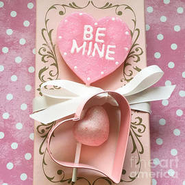 Dreamy Shabby Chic Pink Valentine Heart - Be Mine - Valentine Decor - Kathy Fornal