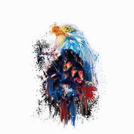 Jai Johnson - Drippy Jazzy Bald Eagle Colorful Bird Art by Jai Johnson