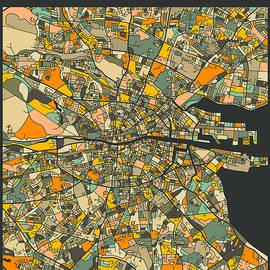 DUBLIN CITY MAP - Jazzberry Blue