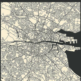 DUBLIN STREET MAP - Jazzberry Blue