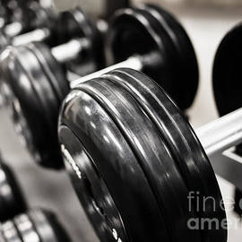 Dumbbell Weights Rack at a Healthclub  Gym  - Paul Velgos