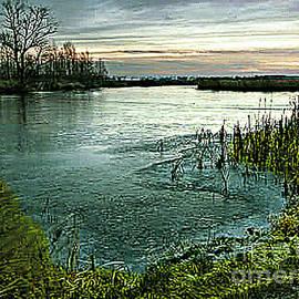 Merton Allen - Dusk at the Pond