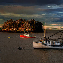 Marty Saccone - Dwindling Autumn Light on Lubec Waterfront