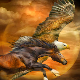 Carol Cavalaris - Eagle And Horse - Spirits Of The Wind