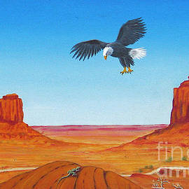 Jerome Stumphauzer - Eagle At Monument Valley