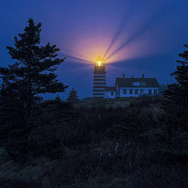 Marty Saccone - Early Evening Fog at West Quoddy Head Lighthouse
