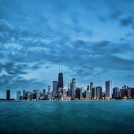 Sven Brogren - Early morning blue skies on Chicago