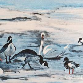 Judy Via-Wolff - Early Spring Thaw with Ducks and Geese