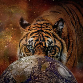 Jai Johnson - Earth Surveyor Tiger Art