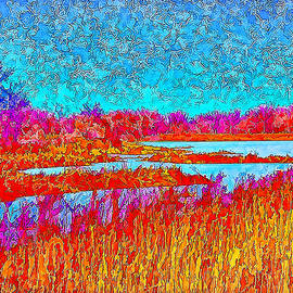 Joel Bruce Wallach - Effervescent Lakes And Sky - Park In Boulder County Colorado
