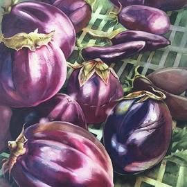 Judith Hallbeck Meyeraan - Eggplants In Open Market
