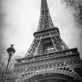 Joan Carroll - Eiffel Tower and Lamp Post BW