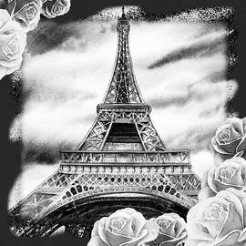 Irina Sztukowski - Eiffel Tower In Black And White Design III