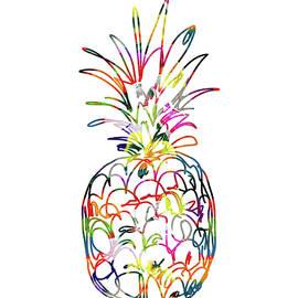 Electric Pineapple - Art by Linda Woods - Linda Woods