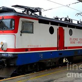Imran Ahmed - Electric rail locomotive of Bosnian Railways Sarajevo Station Bosnia Hercegovina