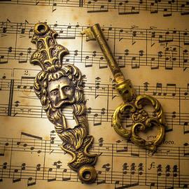 Elegant Keyhole And Sheet Music - Garry Gay