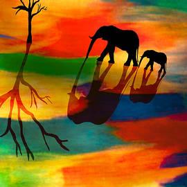 Paul St George - Elephants Colorful Journey