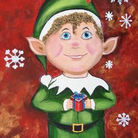 Donna Cook - Elf Presenting Gift