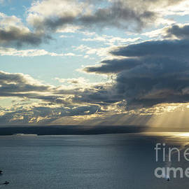 Elliot Bay Clouds and Sunrays - Mike Reid