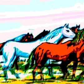 Elongated Art Deco Equestrian Pusuit