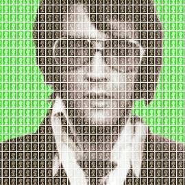 Gary Hogben - Elvis Mug Shot - Green