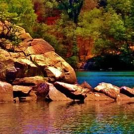 Peggy Leyva Conley - Emerald Lake and Boulders