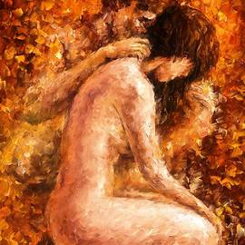 Leonid Afremov - Emotional Day - PALETTE KNIFE Oil Painting On Canvas By Leonid Afremov