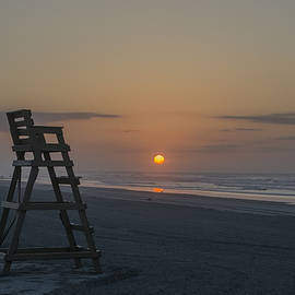 Bill Cannon - Empty Lifeguard Chair at Sunrise