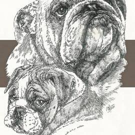 Barbara Keith - English Bulldog Father and Son