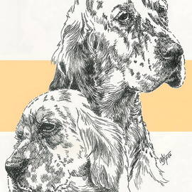 Barbara Keith - English Setter Father and Son
