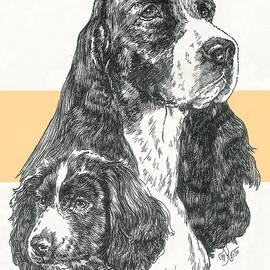 Barbara Keith - English Springer Spaniel Father and Son