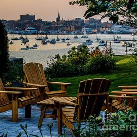 Joe Far Photos - Enjoying the Portland View
