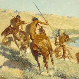 Episode of the Buffalo Gun - Frederic Remington