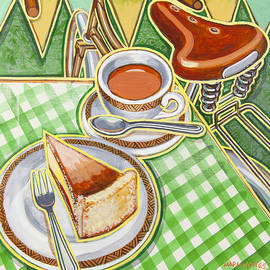 Mark Howard Jones - Eroica Britannia Bakewell Pudding and cup of tea on green